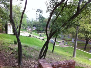 View from the hill looking down on Glenwood