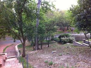 The back of Howard Hughes family gravesite