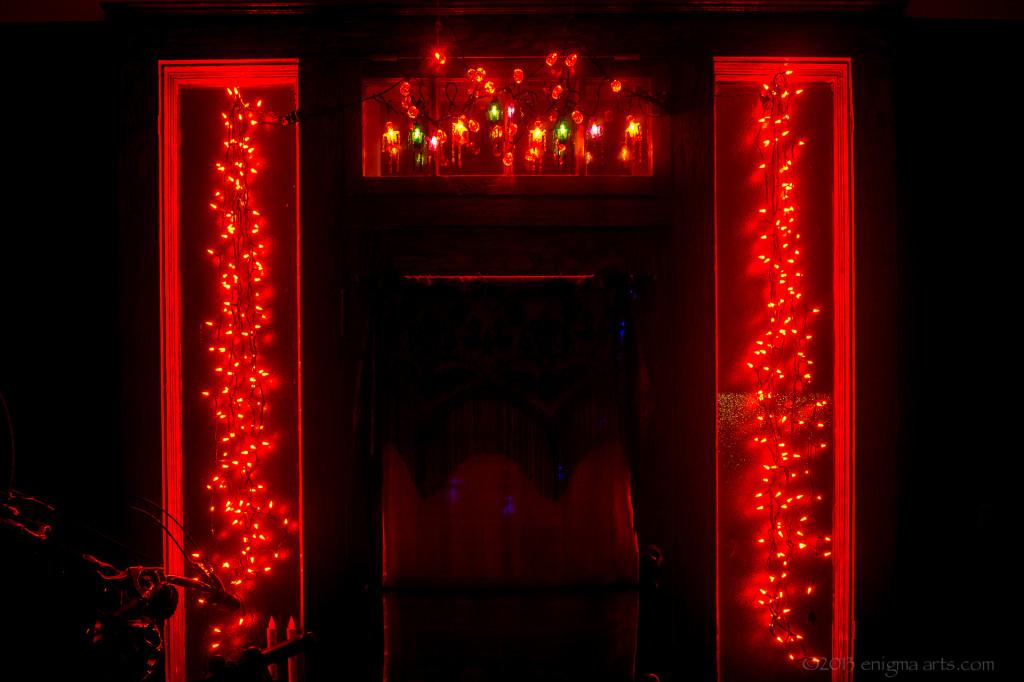 Orange Lights on Front Door