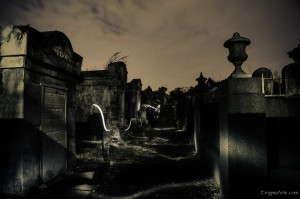 Light Painting in Lafayette Cemetery at Night